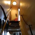 desmontage de escalera para acuchillar y barnizar