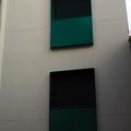 Detalle de balcones en fachada posterior