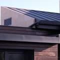 Detalle de la fachada y la cubierta.