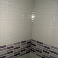 Detalle del acabado del baño