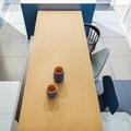Detalle suelo y zona comedor de la cocina