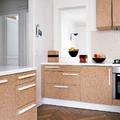 Cocina con muebles de corcho