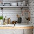 tubería en la cocina que es de cobre