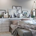 Dormitorio con cabecero a medida