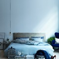 Dormitorio en tonos azules