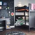 Dormitorio juvenil en tonos negros