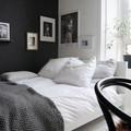 Dormitorio masculino con plaid