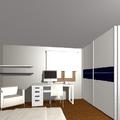 Dormitorio matrimonio + zona estudio 2