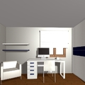 Dormitorio matrimonio + zona estudio 4