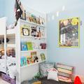 Dormitorio niños con estantería pladur