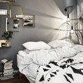 Dormitorio pared negra