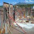 Ejecucion muros de 7.00 metros de altura.