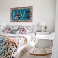 dormitorio invitados floreado