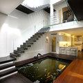 estanque en el interior de la casa