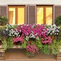 balcón con flores y plantas