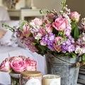floreros de cinc