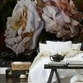 fotomural de flor en dormitorio