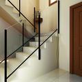 Infografía escalera vivienda particular