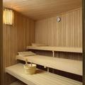 Interior de sauna finlandesa
