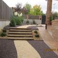 Jardín con Gravas y bajo consumo de agua