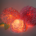 lampara decoración con papel