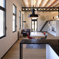 Loft con barra de cocina