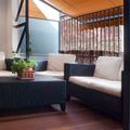 Terraza como prolongación del salón