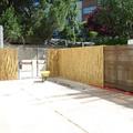 Mampara de caña de bambú