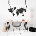 mapa del mundo como vinilo