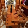Mesa de cata de vinos