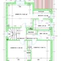 Modelo de chalet nº 30 - Plano planta primera Cotas y Superficies