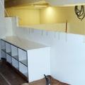 Montaje armario de oficinas y baranda panelada