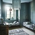 dormitorio paredes en azul