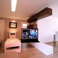 Mueble rotativo TV. Vista desde laTerraza