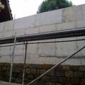 Muro de hormigón armado en sostenimiento de tierras
