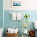 baño azulejos azules