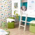 papel pintado habitación infantil elefantes