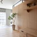 Pared madera de pino  estilo japonés