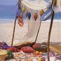 picnic  en la playa estilo vintage