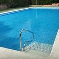 piscina terminada y llena