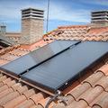 Placas solares para vivienda unifamiliar.