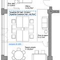 Planta de distribución con propuesta de mobiliario