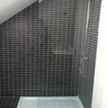 Plato de ducha loza, mamapra fija,  grifo termostatica  ducha 3 posiciones