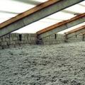 Proyectado de aislante en cubierta superior