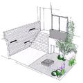 Proyecto de diseño de jardín en atico