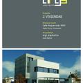 Proyecto de dos viviendas en un solar, dossier de presentación.