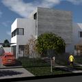 Proyecto de dos viviendas en un solar.