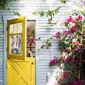 puerta amarilla