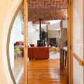 Salón estilo rústico moderno