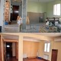 Reforma integral de vivienda por Traber Obras - salón antes y después.